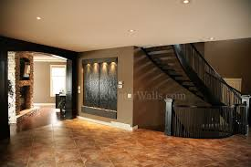 water fountains indoor spaces craftsman with black stair case black