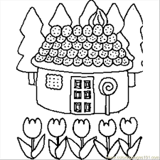 Small Picture Candy House Coloring Page Free Buildings Coloring Pages