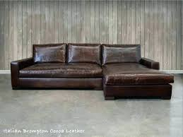 deep seat leather sectional sofa seated couch the chaise shown here in gor