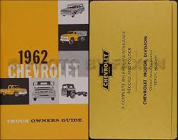 1962 chevrolet truck wiring diagram manual reprint 1962 chevrolet pickup truck reprint owner s manual package