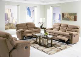 Reclining Living Room Furniture Sets Light Brown Microfiber Modern Reclining Sofa