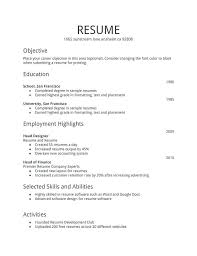 First Time Resume Templates Amazing First Time Resume Templates Viawebco