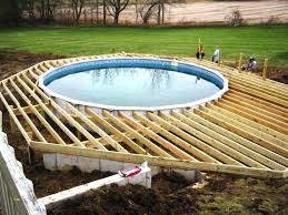 rectangle above ground pools for new ground pool decks average cost deck around
