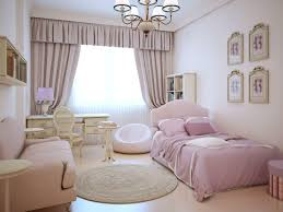 small teenage girls room with all pink decor