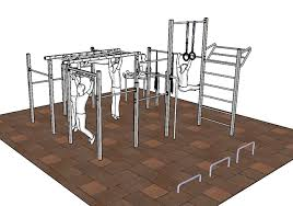 fitness station for the entire family to use in the garden