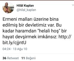 """Hilâl Kaplan on Twitter: """"Hangi kelimeyi kullanırsan kullan, esas derdin bu  Amerika; Allah artırsın. #1915Olayları… """""""