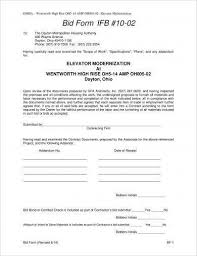 Bid Form For Construction 9 Construction Bid Form Examples Pdf Examples