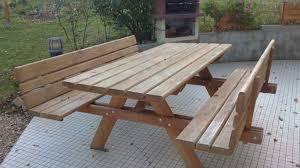 Inspirant Table De Jardin En Bois Jskszm Com Id Es De Une Table Ronde Pour Jardin Avec Des Bancs En Bois