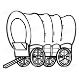 black and white covered wagon. covered wagon black and white