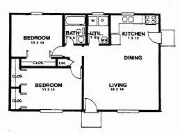 Eplans Ranch House Plan Two Bedroom Ranch 864 Square Feet And 2 Bedroom  Ranch House Floor