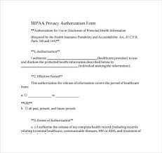 Hipaa Consent Forms Impressive 44 Hipaa Authorization Form Download For Free Sample Templates