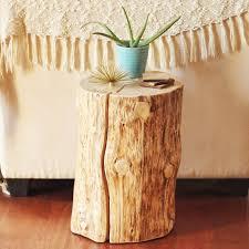 Tree stump furniture Light Up Diy Natural Tree Stump Side Table Overstock Diy Natural Tree Stump Side Table Justinecelina