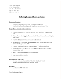 Sample Catering Proposal Template Catering Proposal Resume Papers 1