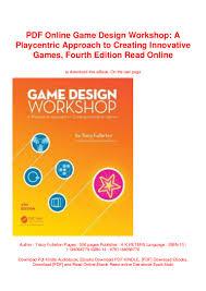 Tracy Fullerton Game Design Workshop Pdf Pdf Online Game Design Workshop A Playcentric Approach To