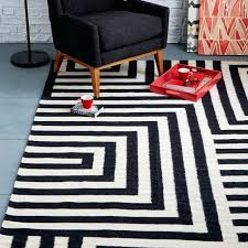 black and white rug view in gallery black and white maze rug from west elm black and white damask rug runner