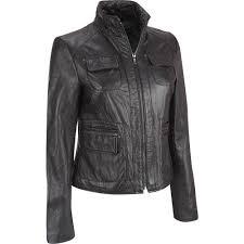 details about stylish leather jacket women motorcycle original zipper lambskin er biker