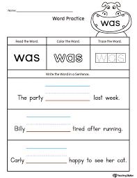 Free printable kindergarten sentence writing worksheets | Download ...