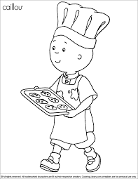 Caillou 30 Cartoons Printable Coloring Pages