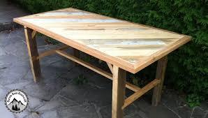 Fabrication D Une Table Solide En Bois De R Cup Ration Partie 1