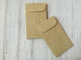 100 Parchment Mini Envelopes Aged Coin Envelopebulk Business Card