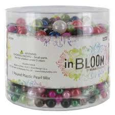 assorted plastic pearl bead mix