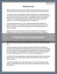 Church Homecoming Welcome Speech Printable