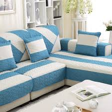 couch covers blue. Interesting Couch Summer Linen Couch Covers For Home Blue Strip Pattern Sofa Slipcovers On AliExpresscom