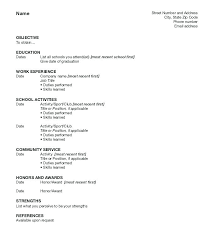 Activity Resume Templates Student Activity Resume Template Activity Resume Templates Simulated