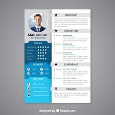 curriculum template flat professional curriculum template vector free download