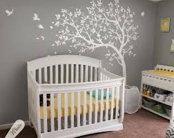 details about baby nursery white tree wall decal large nursery tree sticker mural kw032