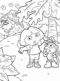 Easy Dora The Explorer Coloring Pages Printable Get Coloring Page
