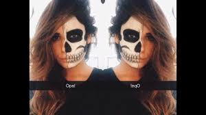half sugar skull makeup