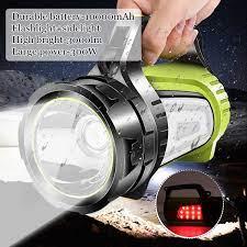 200/300/500W Sáng Mạnh Mẽ LED Đèn Pha Tìm Kiếm Đèn Pin Cầm Tay Công Suất  Ngân Hàng Pin Sạc Đèn Pin Chống Nước Ngoài Trời|Đèn Pin LED