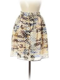 Details About Balenciaga Women Brown Silk Skirt 40 French