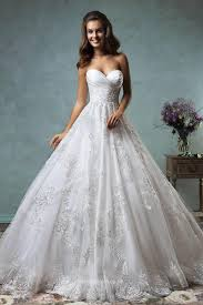Princess Strapless Sweetheart Lace Tulle Backless Ball Gown