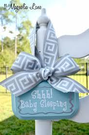 diy baby gifts diy baby sleeping door hanging sign homemade baby shower presents and