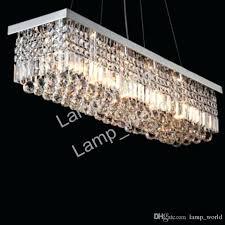 rectangular crystal chandelier modern rectangular crystal chandelier dining room length multiple size led pendant light ceiling
