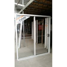 aluminium sliding door 2100mm h x 2650mm w white