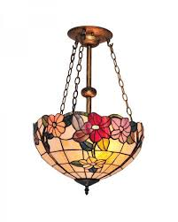 Good Tiffany Style Chandelier Lighting With Multi Colored Flowers Pattern  Stained Glass Images