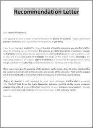 Recommendation Letter Templates Samplebusinessresume With Regard To