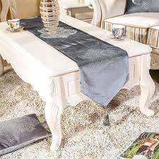coffee table runner style luxury velvet rhinestone flower dining table runners tablecloths coffee table cloth home decorative cloth custom table cloth