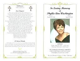 Funeral Service Program Template Funeral Service Program