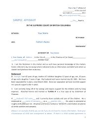 affidavit example xianning robinsonresponse affidavit example affidavit form definition how to write an sample 02