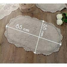 oval bath rugs oval bath mat bath rug vintage shabby chic farmhouse crochet grey cotton oval oval bath rugs