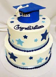 Blue Stars Graduation Cake Best Graduation Cakes Ideas