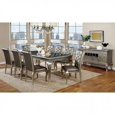 dining room great concept glass dining table. Brilliant Great Amina Contemporary Silver Dining Set On Room Great Concept Glass Table O