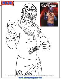 Small Picture Get This Printable wwe coloring pages rey mysterio 31189