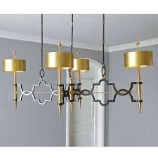 bronze and brass long modern chandelier