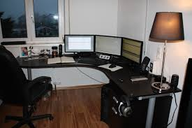 astounding long corner desk give captivating look