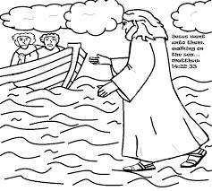Peter Walks On Water Coloring Page 31630 Hypermachiavellismnet